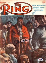 Archie Moore Autographed The Ring Magazine Cover PSA/DNA #S48876