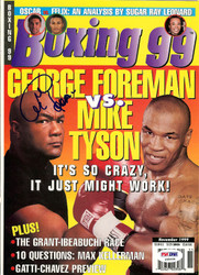 George Foreman Autographed Boxing '99 Magazine Cover PSA/DNA #S48608