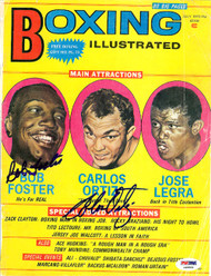 Bob Foster & Carlos Ortiz Autographed Boxing Illustrated Magazine Cover PSA/DNA #S48894