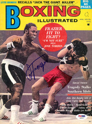 Joe Frazier Autographed Boxing Illustrated Magazine Cover PSA/DNA #S48957