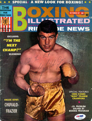Karl Mildenberger Autographed Boxing Illustrated Magazine Cover PSA/DNA #S47528