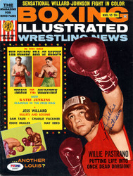 Willie Pastrano Autographed Boxing Illustrated Magazine Cover PSA/DNA #S48847