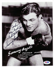Sammy Angott Autographed 8x10 Photo To John PSA/DNA #Q95793