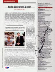 Nino Benvenuti Autographed Magazine Page Photo PSA/DNA #Q95886