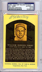 William Bill Terry Autographed HOF Postcard PSA/DNA #83386428