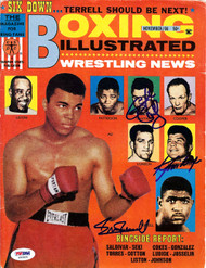 Karl Mildenberger, George Chuvalo & Ernie Terrell Autographed Boxing Illustrated Magazine Cover PSA/DNA #S50835