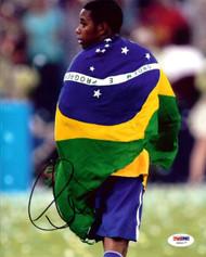 Robinho De Souza Autographed 8x10 Photo Brazil PSA/DNA #U54477