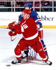 Kirk Maltby Autographed 8x10 Photo Detroit Red Wings PSA/DNA #U58980