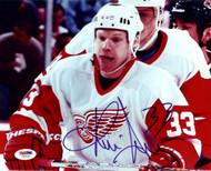 Kris Draper Autographed 8x10 Photo Detroit Red Wings PSA/DNA #U58996