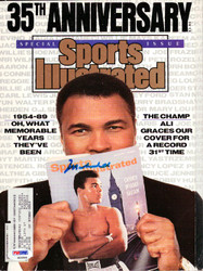 Muhammad Ali Autographed Sports Illustrated Magazine PSA/DNA #S06866