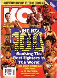 Arturo Gatti, Roy Jones Jr, Ike Quartey & Junior Jones Autographed KO Boxing Magazine PSA/DNA #S06900
