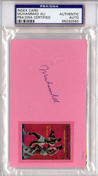 Muhammad Ali Autographed 3x5 Index Card PSA/DNA #65030565