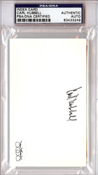 Carl Hubbell Autographed 3x5 Index Card PSA/DNA #83433249