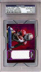 LaMichael James Autographed 2012 Topps Triple Threads Rookie Card #30 San Francisco 49ers PSA/DNA #83431660