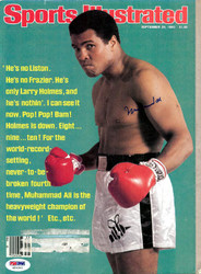 Muhammad Ali Autographed Sports Illustrated Magazine PSA/DNA #H56341