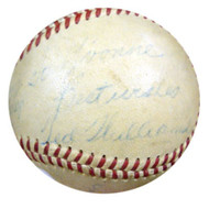 "Ted Williams Autographed AL Harridge Baseball Boston Red Sox ""To Yvonne, Best Wishes"" 1950's Vintage Signature PSA/DNA #K39921"