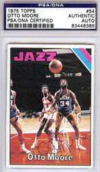 Otto Moore Autographed 1975 Topps Card #54 New Orleans Jazz PSA/DNA #83448385