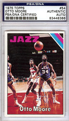 Otto Moore Autographed 1975 Topps Card #54 New Orleans Jazz PSA/DNA #83448386