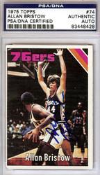 Allan Bristow Autographed 1975 Topps Card #74 Philadelphia 76ers PSA/DNA #83448428