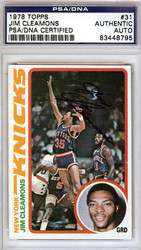 Jim Cleamons Autographed 1978 Topps Card #31 New York Knicks PSA/DNA #83448795