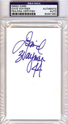 Dave Waymer Autographed 3x5 Index Card PSA/DNA #83451950