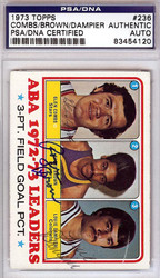 Roger Brown, Glen Combs & Louie Dampier Autographed 1973 Topps Card #236 PSA/DNA #83454120