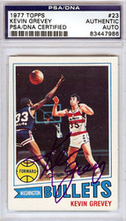 Kevin Grevey Autographed 1977 Topps Card #23 Washington Bullets PSA/DNA #83447986