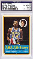 Ralph Simpson Autographed 1973 Topps Card #190 Denver Rockets PSA/DNA #83449827
