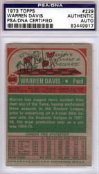 Warren Davis Autographed 1973 Topps Card #229 PSA/DNA #83449917