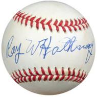 Ray Hathaway Autographed NL Baseball Brooklyn Dodgers PSA/DNA #P71570