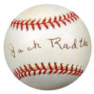 Jack Radtke Autographed NL Baseball Brooklyn Dodgers PSA/DNA #Q36998