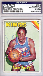 Sam Lacey Autographed 1975 Topps Card #158 Kansas City Kings PSA/DNA #83456794