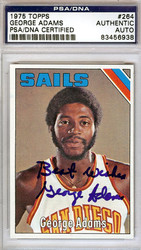 George Adams Autographed 1975 Topps Card #264 San Diego Sails PSA/DNA #83456938