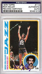 Rich Kelley Autographed 1978 Topps Card #114 New Orleans Jazz PSA/DNA #83461219