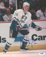 Ken Baumgartner Autographed 8x10 Photo Anaheim Ducks PSA/DNA #U96048