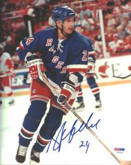 Sylvain Lefebvre Autographed 8x10 Photo New York Rangers PSA/DNA #U96581