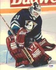 Guy Hebert Autographed 8x10 Photo Anaheim Ducks PSA/DNA #U96380