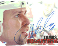 Tomas Holmstrom Autographed 8x10 Photo Detroit Red Wings PSA/DNA #U96410