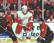 Tomas Holmstrom Autographed 8x10 Photo Detroit Red Wings PSA/DNA #U96415