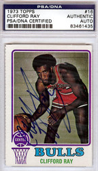Clifford Ray Autographed 1973 Topps Card #16 Chicago Bulls PSA/DNA #83461435