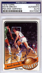 Kevin Grevey Autographed 1979 Topps Card #34 Washington Bullets PSA/DNA #83470587