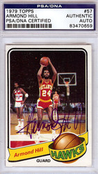 Armond Hill Autographed 1979 Topps Card #57 Atlanta Hawks PSA/DNA #83470659