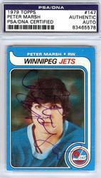 Peter Marsh Autographed 1979 Topps Card #147 Winnipeg Jets PSA/DNA #83465578