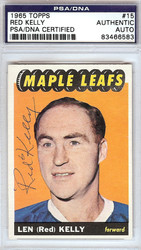 Red Kelly Autographed 1965 Topps Card #15 Toronto Maple Leafs PSA/DNA #83466583