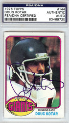 Doug Kotar Autographed 1976 Topps Card #144 New York Giants PSA/DNA #83469720