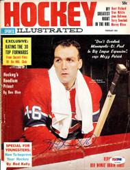 Henri Richard Autographed Hockey Illustrated Magazine Cover Montreal Canadiens PSA/DNA #U93584