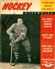 Jacques Laperriere Autographed Hockey Pictorial Magazine Cover Montreal Canadiens PSA/DNA #U93637