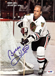 Bobby Hull Autographed Magazine Page Photo Chicago Blackhawks PSA/DNA #U93644