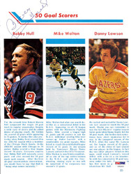 Bobby Hull Autographed Magazine Page Photo Winnipeg Jets PSA/DNA #U93680