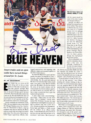 Brett Hull Autographed Magazine Page Photo St. Louis Blues PSA/DNA #U93737